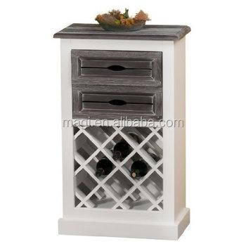 Rustic White 2 Drawer Wood Vintage Wine Cabinet - Buy Wine Cabinet ...
