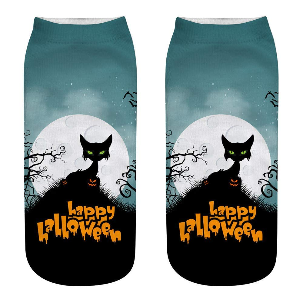 Cute Casual Business Socks 3D Halloween Pumpkin Printing Medium Sports Socks