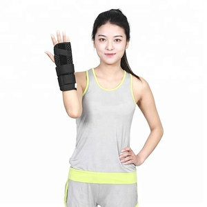 Comfortable carpal tunnel wrist orthosis brace support with splint