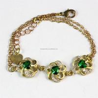 Yiwu Brass Jewelry Factory Direct Price Raw Brass Material Custom Semi-Precious Stone Bracelet