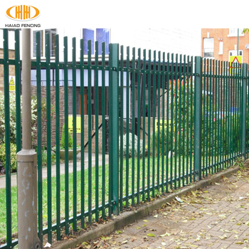 Jardin En Fer Forgé Clôture En Acier,Clôture De Palissade Galvanisée ...