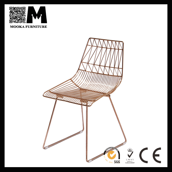 Mordern style round seat metal wire chair