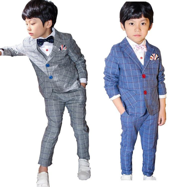 Buy 2015 New Design 3PCS Children Striped Formal Wedding Suit for ...