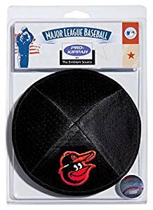 MLB Baltimore Orioles Men's Kippah, One Size, Black