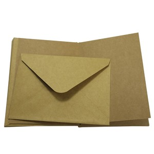 Wholesale custom Classic style a3 a4 a7 gold brown shipping kraft paper envelope