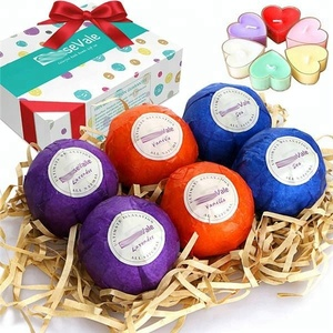Bath Salt Ball Essential Oil Ball with dried flower fizzy bubble bomb