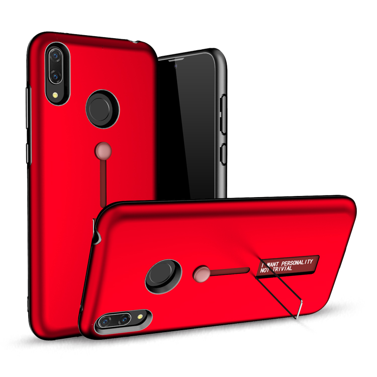 Shockproof Tpu Pc Hybrid Kickstand Mobile Phone Cover Case For Huawei Y7 Prime 2019 Back Bumper Cover
