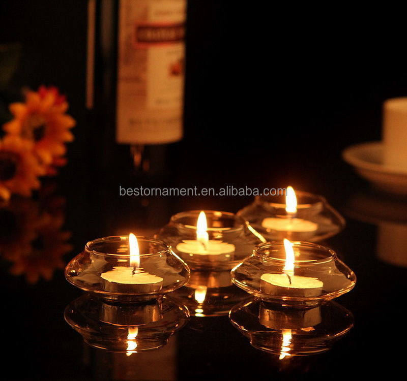 Clear Glass Bowl Floating Tealight Candle Holders Buy