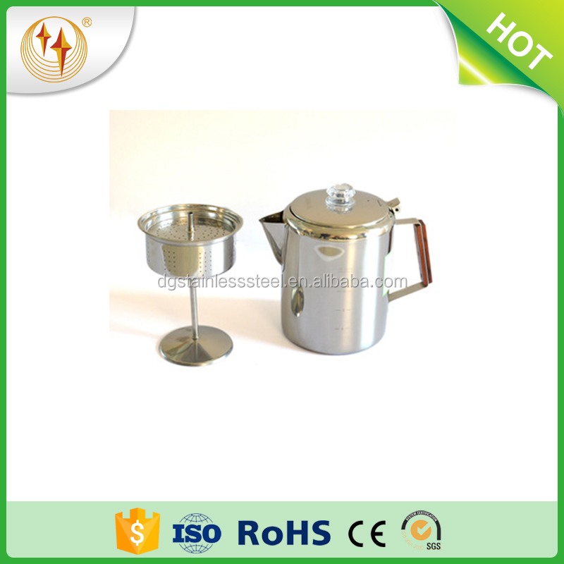 2017 New Outdoor Stainless Steel Custom Coffee Plunger Coffee Pot