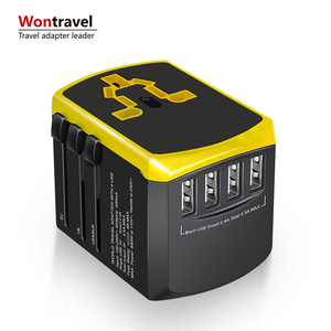 Hot sale 4 USB safe shutter usb charger universal travel adapter quick charger