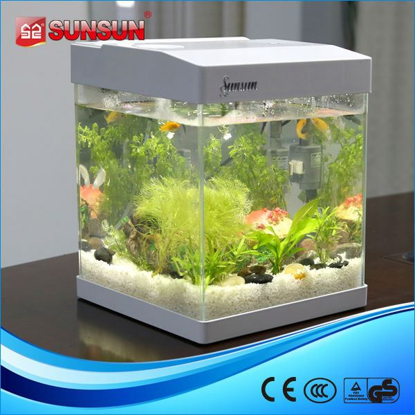 sunsun small acrylic half round fish tank
