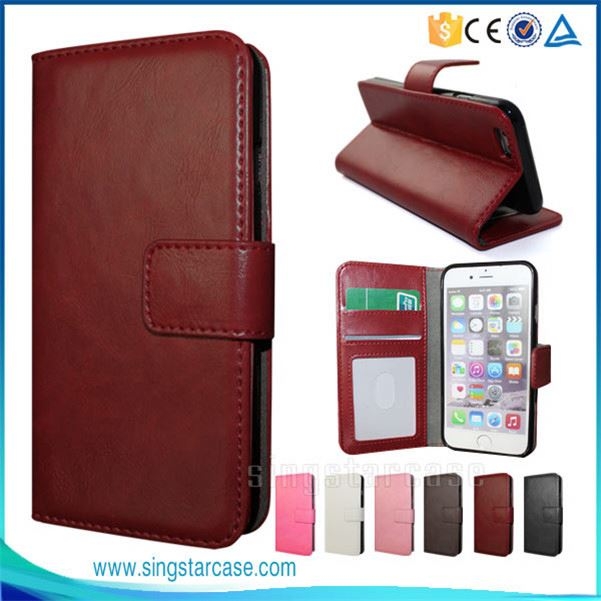 Wholesale Simple Flip Leather Mobile Phone Cover Case For Apple iPhone Nano 7