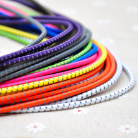 In Stock Adjustable hood drawcords Elasticity Bungee Cord Reflective materia shoelaces With Various Sizes elastic cord 200Colors