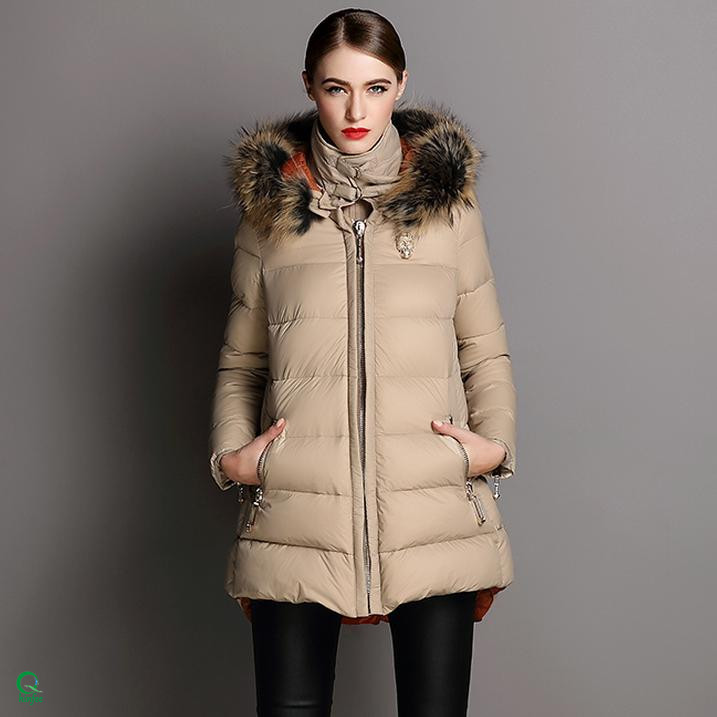SWC141 China Apparel Factory Custom Size Women Down Jacket Parka