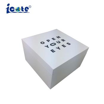 Cote Luxury Paper Craft With Lcd Display Wholesale Wedding Invitation Box