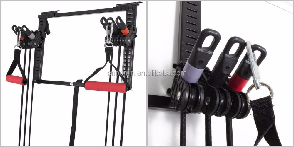 Tower 200 door gym fitness kit 200 lbs resistance band set for 10 minute trainer door attachment