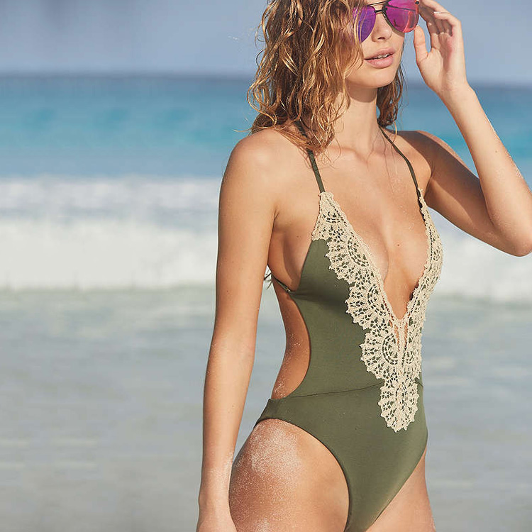 2f707030ad6 OEM Eclipse Crisscross One-Piece Swimsuit Extreme Sweet Secret Bikini Women''s  Hot