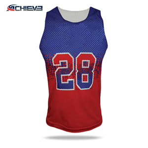 100% professional technical factory school lacrosse game shorts heat-printed lacrosse tee shirts