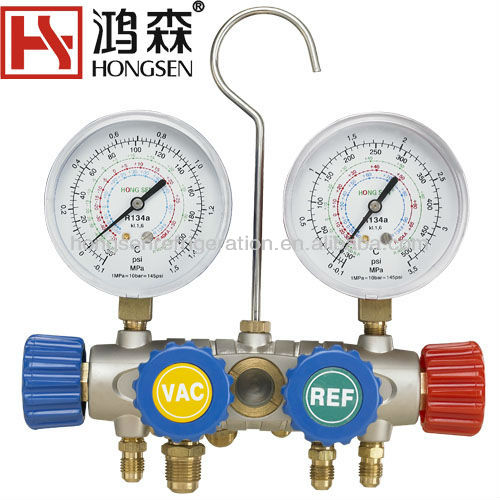 refrigerant manifold testing and charging gauge sets for r410a