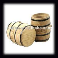 wooden barrel/flower pot