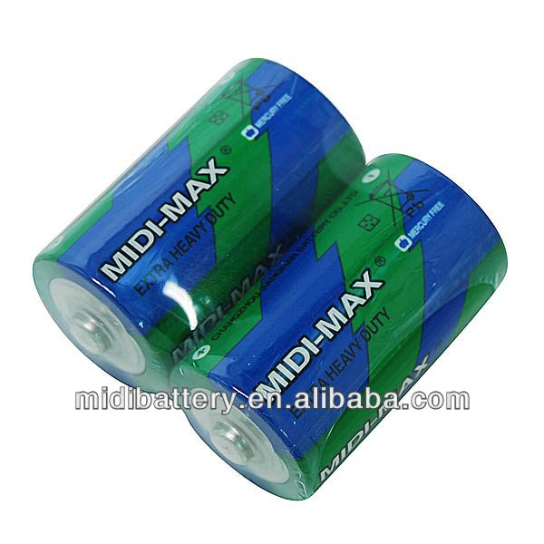 Stable Quality Dry cell Batteries R20-2/b Battery 1.5v Heavy Duty Battery