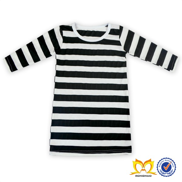 d4eafc1023fe Latest Fashion Black And White Stripes Baby Dress Cotton Frock Dress ...