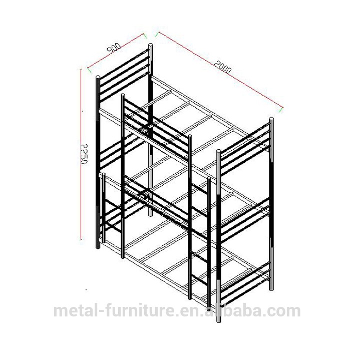 Triple Bed Army Beds For Sale School Dormitory Metal