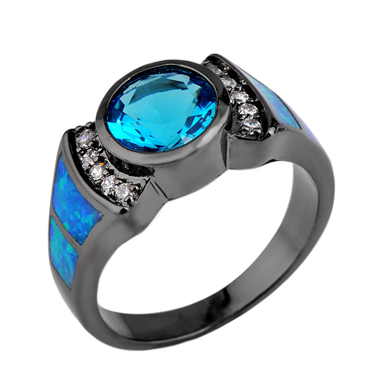 Women-Men-Ring-Anel-Vintage-Aquamarine-Sapphire-Jewelry