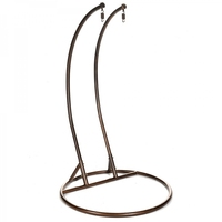 Double Hanging Powder Coated Copper Color Swing Chair Frame with Stand