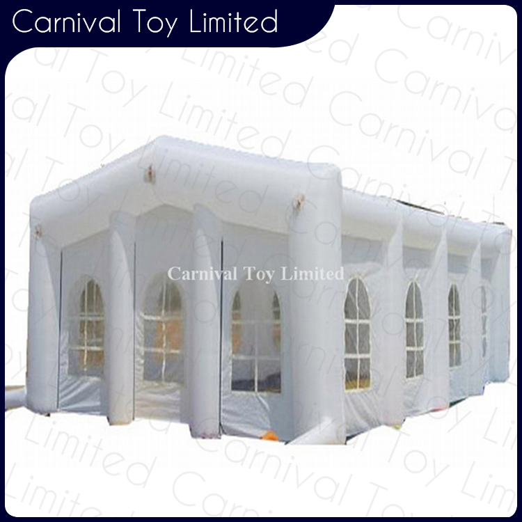 Outdoor tent with window white wedding party event inflatable marquee
