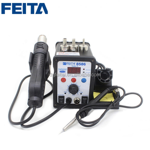 FEITA 8586 Hot Air Gun and Soldering Iron 2 in 1 Electric Soldering Station