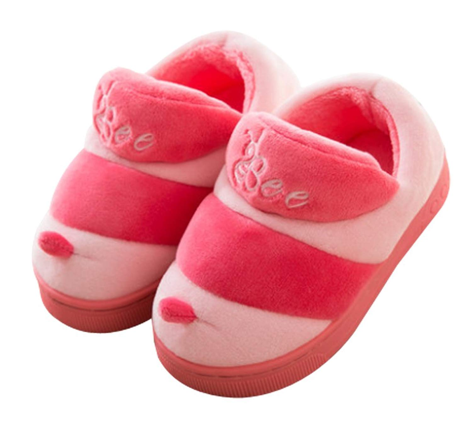 1e10a431c83fd Get Quotations · Cattior Toddler Coral Warm House Indoor Fluffy Boot  Slippers