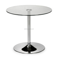 Glass Round shape coffee table and side table