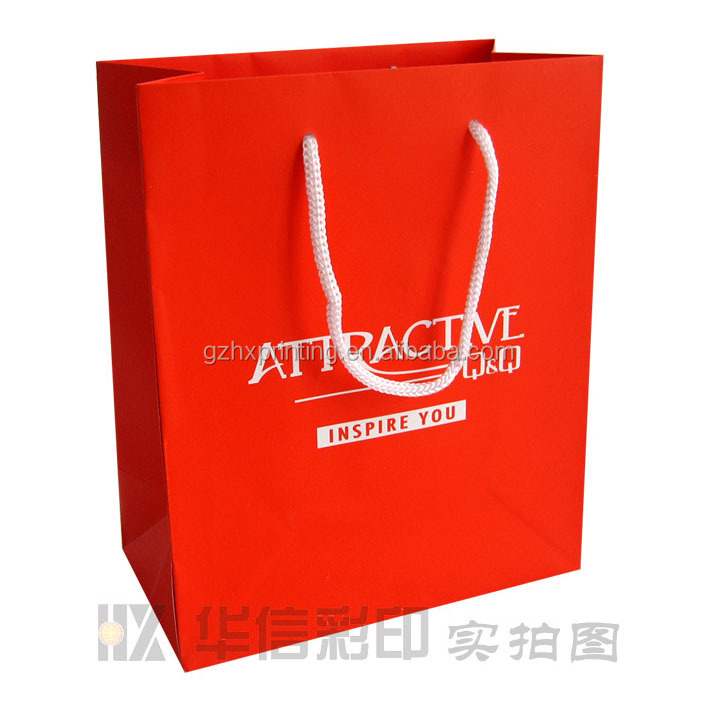 2015 factory directly custom high end gift paper bag for clothing