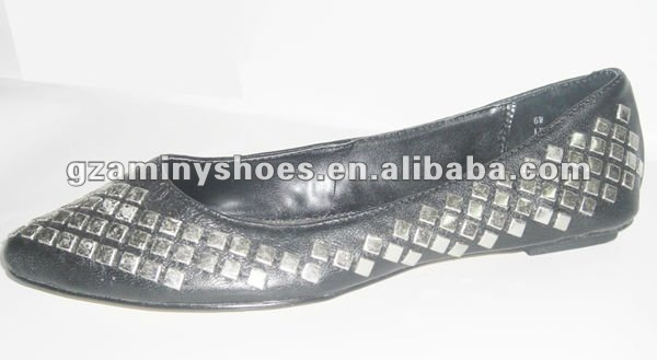 flat shoes studded studded flat Comfortable Comfortable Comfortable shoes ladies ladies 0fzx44