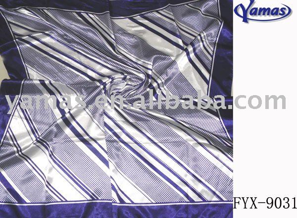 Fashion hot popular satin square stripe scarf