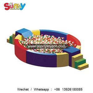 A great way to safely active play in daycares soft ball pit