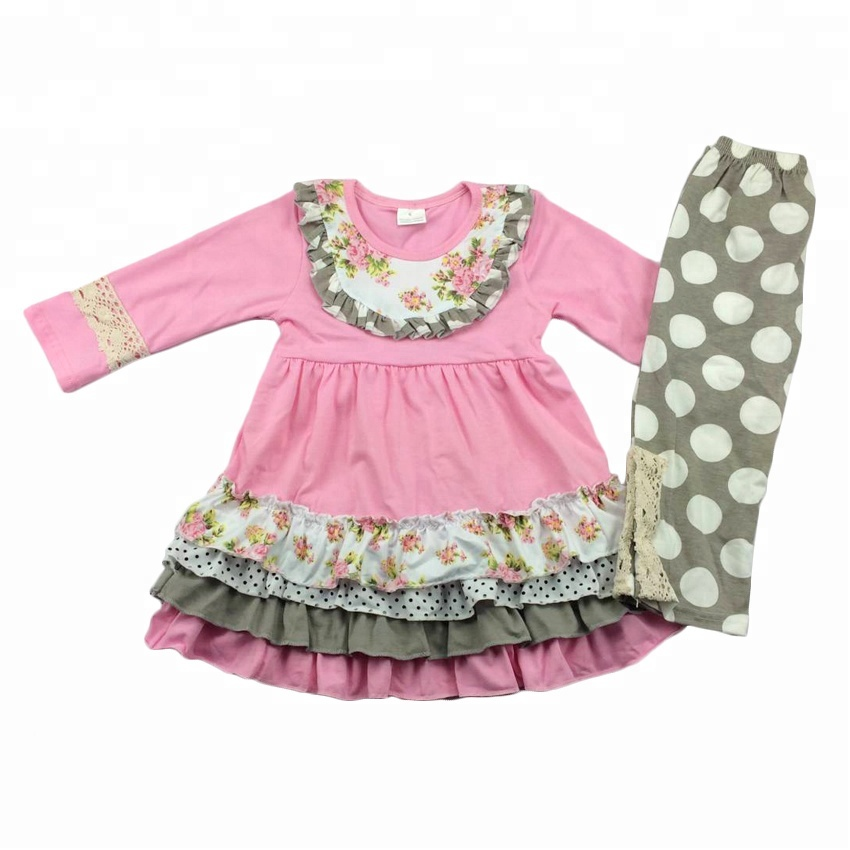 kids fashion clothing kids polka dot clothes/clothing wholesale kids China yiwu clothes/clothing