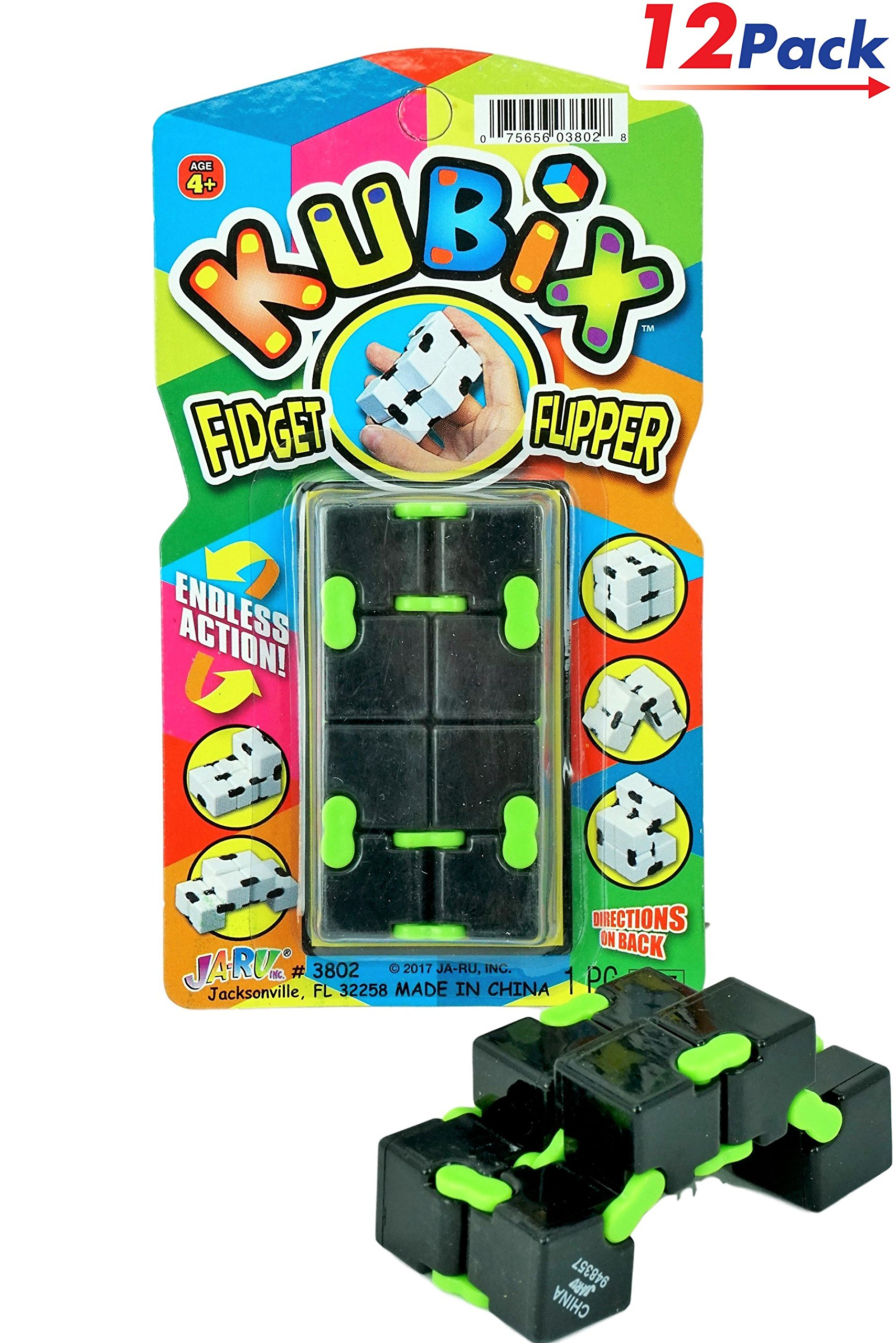 Kubix Speed Cube by JA-RU | Fidget Cube Flip It Endlessly Pack of 12 | Item #3802