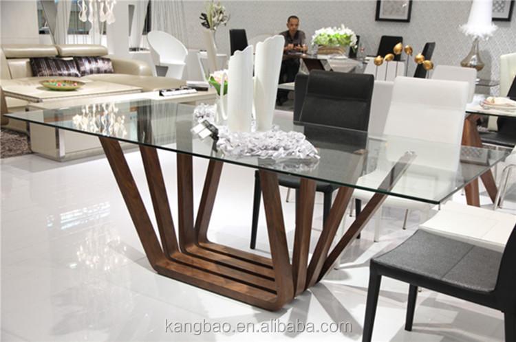 Kangbao muebles hogar mesa de comedor de cristal y sillas for Mesa comedor madera cristal