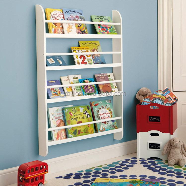 wit kids houten muur boekenkast opslag kinderen meubels