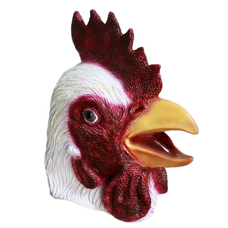 Deluxe Turkey Mask Animal Head Rooster Chicken Fancy Dress Thanksgiving Costume