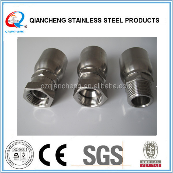 "Parker ""43 Series"" Interchange Stainless Steel Hydraulic Hose Crimp Fittings"