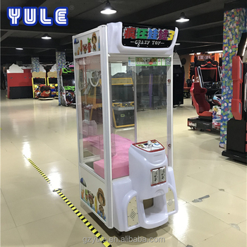 YU LE knuffels crane klauw machine/slot game machine/duwen game voor kid