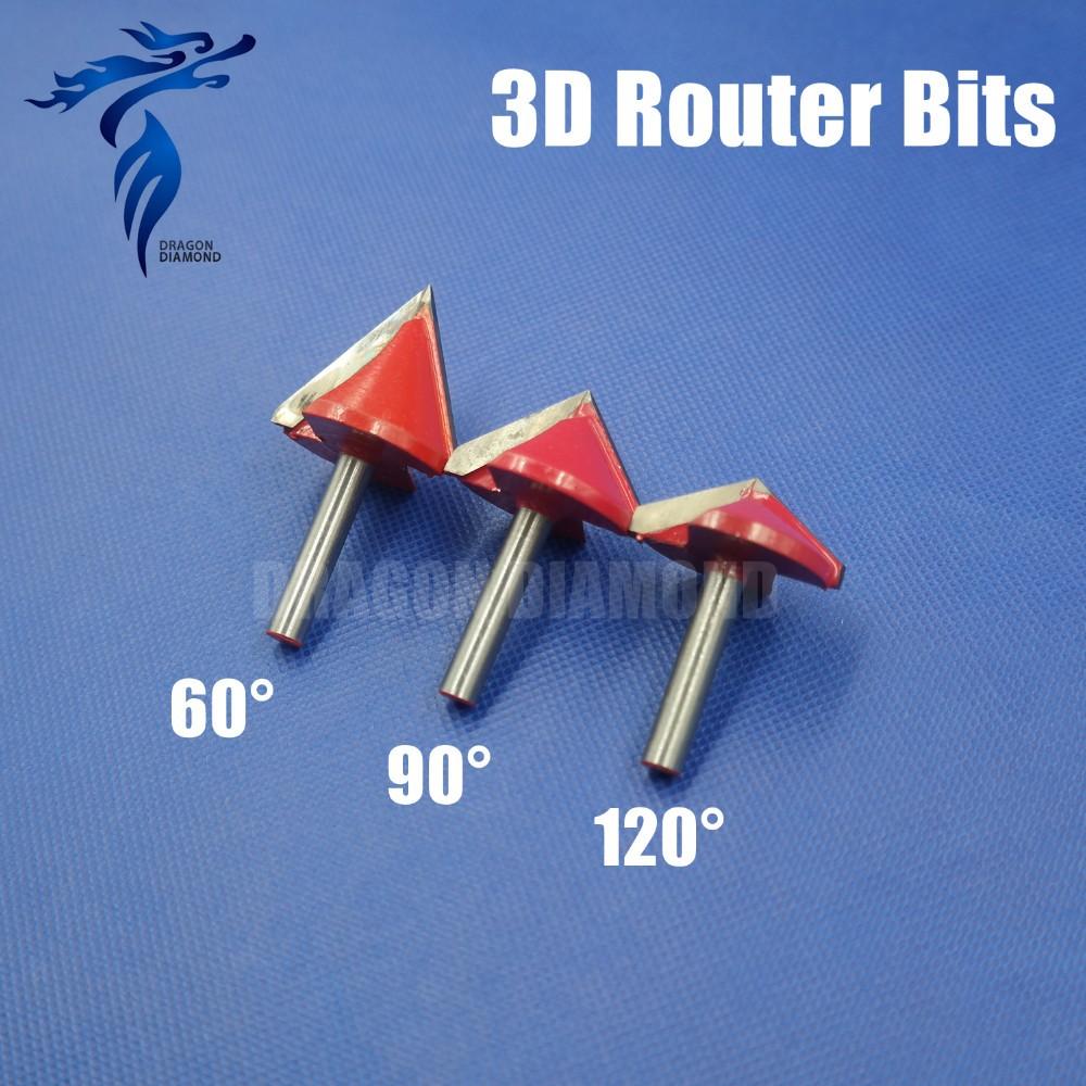 Carbide 3d Cnc Router Bits 6mmx32mm,60/90/120 Degree 3d V Groove  Woodworking Router Bits - Buy Carbide 3d Cnc Router Bits,60/90/120  Degree,3d V Groove