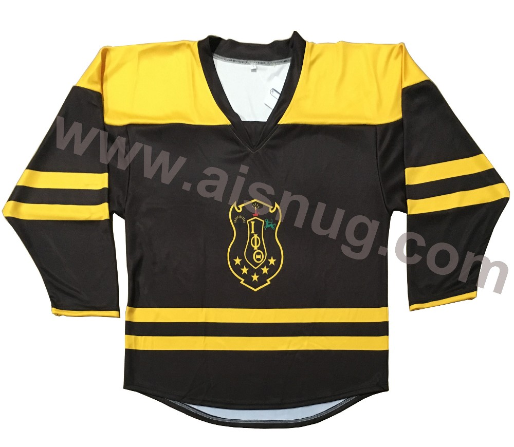 wholesale printed blank wicking polyester team set sublimated hockey jersey