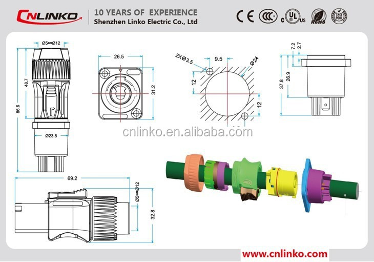 HTB1T2nYGFXXXXXhaXXXq6xXFXXXO made in china panel mount waterproof powercon connector audio and powercon wiring diagram at edmiracle.co