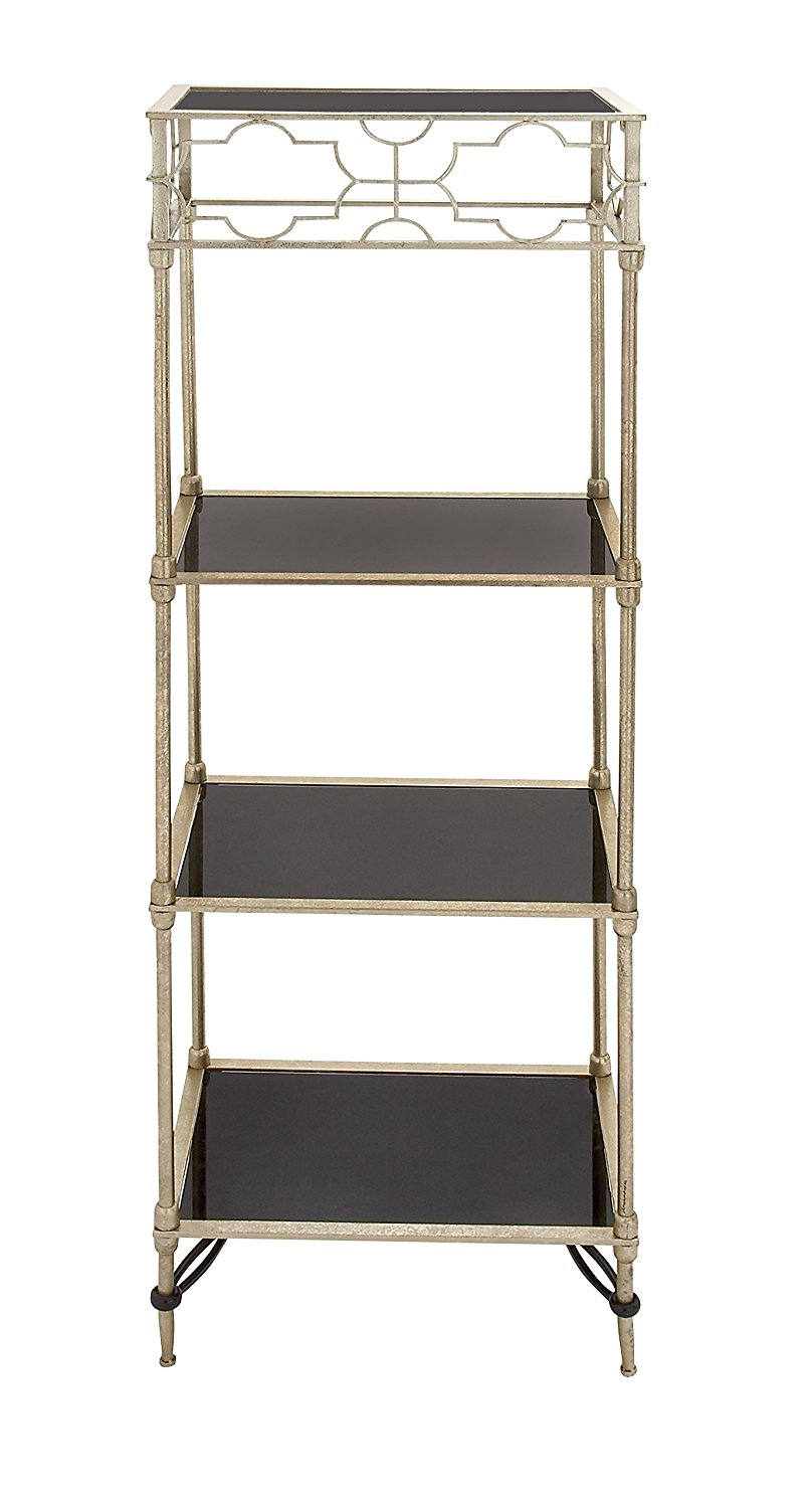Plutus Brands Magnificent Styled Metal Glass Shelf