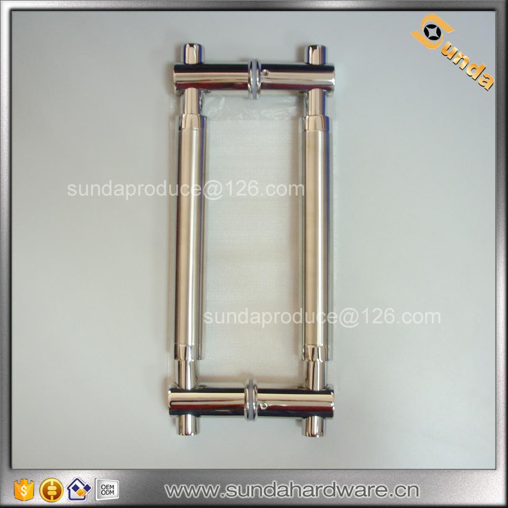 Round Tube Glass Door Pull Handle For Glass Sliding Door Buy Glass
