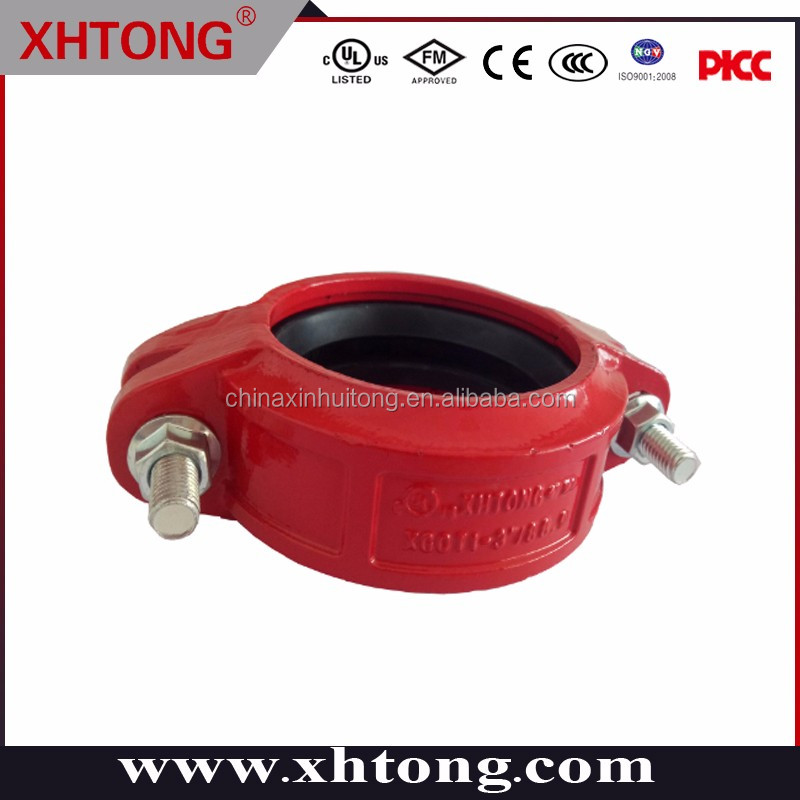 FM/UL CE DUCTILE IRON RIGID/FLEXIBLE COUPLING PAINTED AND GALVANIZED